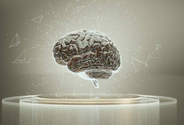 脳のエネルギーが糖分であることのイメージとして脳の画像