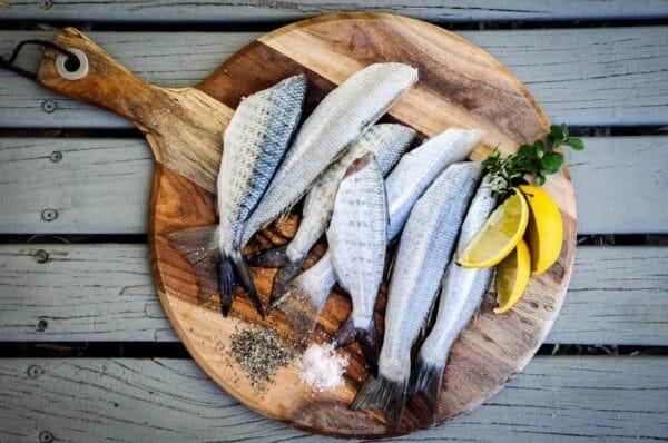 頻繁におしっこに行きたがるこどもに関係しているタンパク質豊富な魚のイメージ
